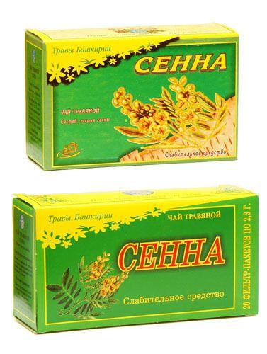Чай с сенной от запора